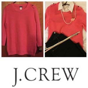 J. Crew Merino wool sweater medium Coral