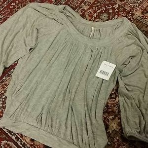 Free People New W Tags Gray XS Top Soft!