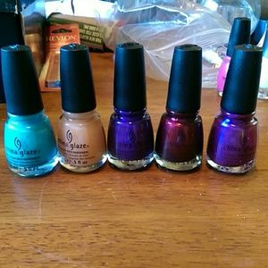 5 china glaze nail polishes NWOT