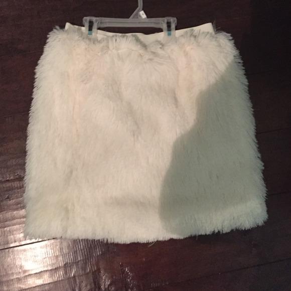 8944526fbb Skirts | White Faux Fur Skirt | Poshmark