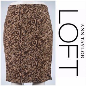 ❤️NEW❤️ann Taylor LOFT leopard pencil skirt ($5)