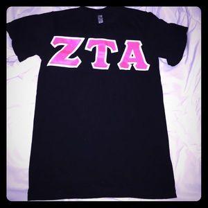 XS American Apparel ZTA letters zeta tau alpha