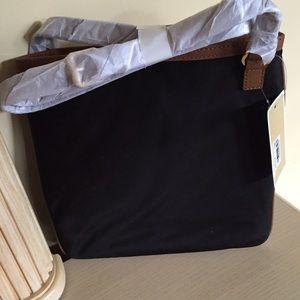 123bdb05b94c Michael Kors Bags - MK KEMPTON LG CROSSBODY BLACK NYLON-LEATHER TRIM
