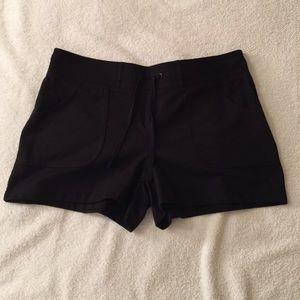 🌟Papaya Black Drawstring Shorts