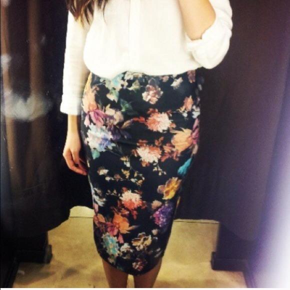 zara zara floral pencil skirt from s closet on