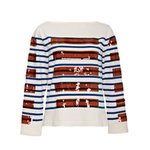 Marc Jacobs Cashmere Blend Sequin Stripe Sweater