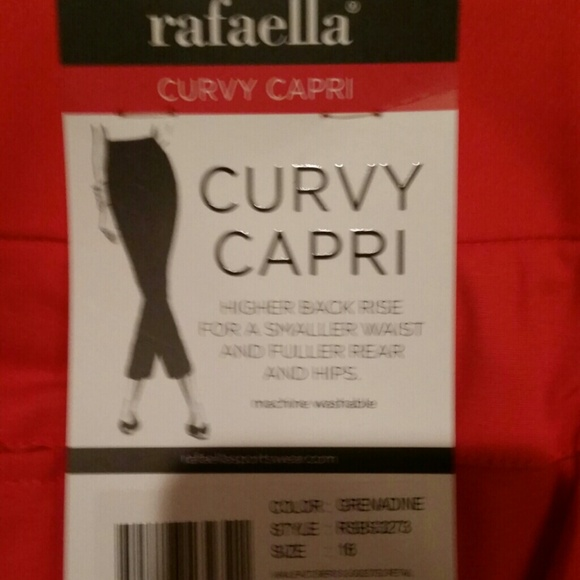 79% off Rafaella Pants - Rafaella Curvy Capri size 16 Coral SAME ...