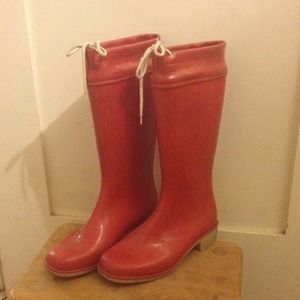 vintage red rain boots, used for sale