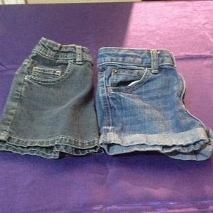 Denim shorts bundle - girls