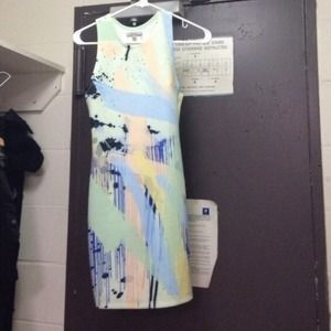 Zara Trafaluc Print Bodycon Dress
