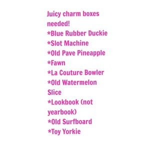 Juicy Couture Jewelry | Charm Boxes Needed | Poshmark