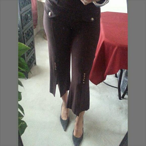 bebe - Bebe chocolate brown capri pants from Rebecca's closet on ...