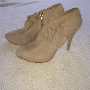 Zara beige ankle boots new with defect size 10