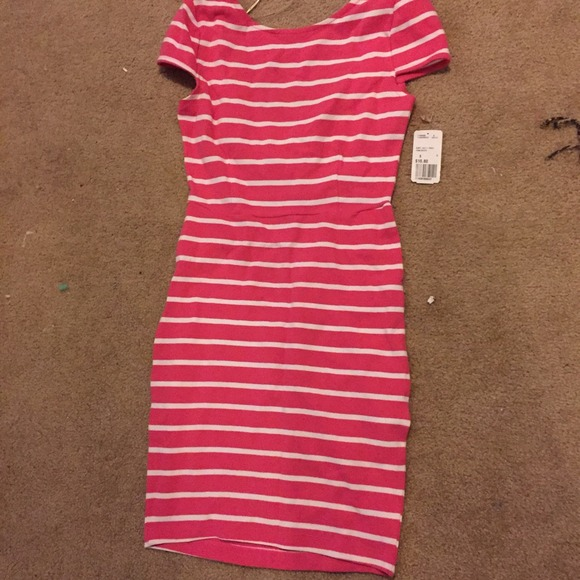 Forever 21 pink and white striped dress