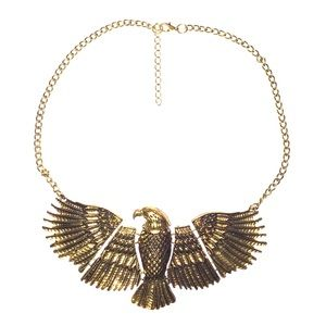 Edgy statement bold eagle Egyptian necklace cute