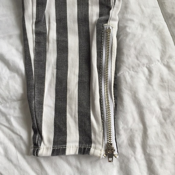 83% off PacSun Pants - Bullhead high waisted striped jeans from ...