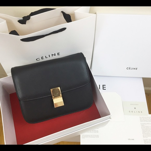 16e6fb5ab1fb Celine Handbags - Pre owed Celine Classic Box Medium Black Authentic