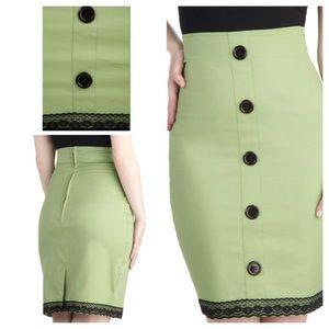 Modcloth green pencil skirt