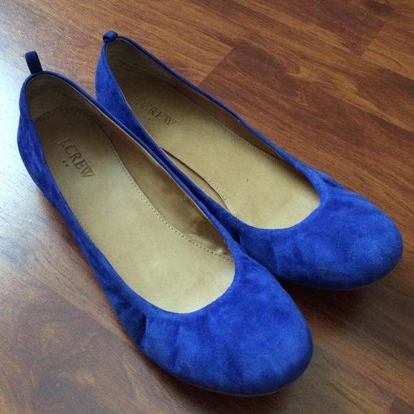 Womens Shoes Navy Blue Ballet Flats