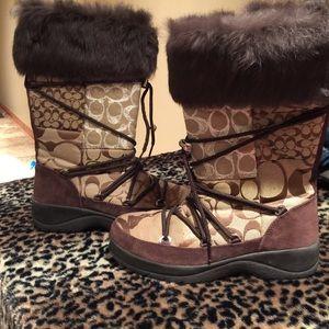 Coach Winter Boots 7.5