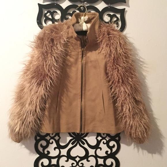 Fur Sleeve Jacket / Coat