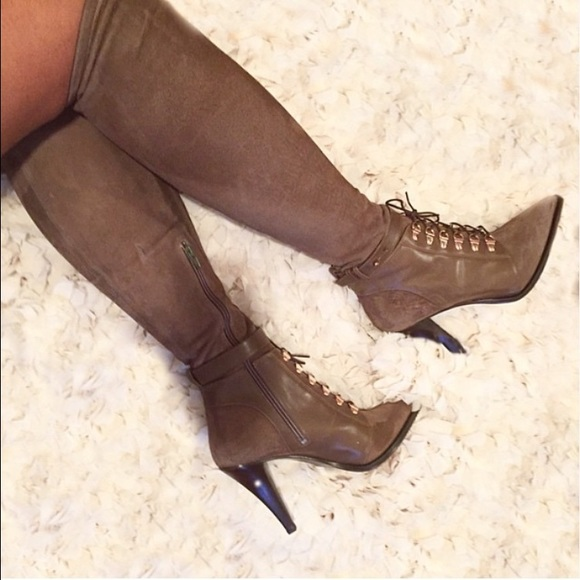 H&M Shoes - HM Leather/ Suede Knee High Boots