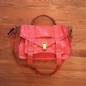 Proenza Schouler PS1 orange flap bag