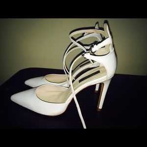 Zara Shoes - Zara basic collections white ankle straps