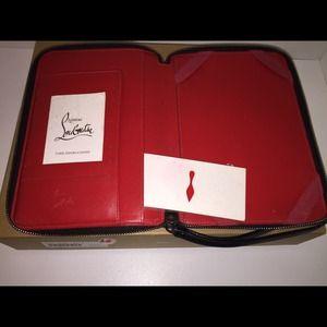95aab0748a9 Christian Louboutin spiked iPad mini case/clutch NWT