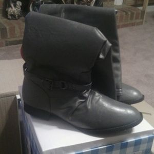 Shoes - Brand new gray boots.  Have size 6, 7, 8 and 10