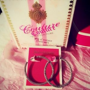 Juicy couture diamond hoops