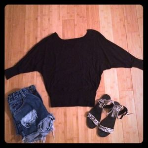 Black Batwing Sweater
