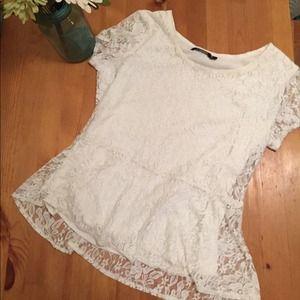 Peplum lace shirt // PM