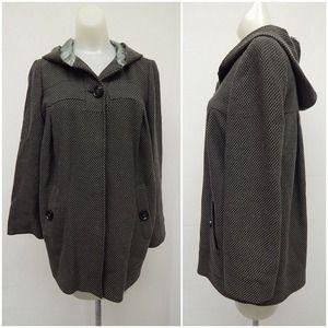 Iro Hooded Grey Jacket Size 0