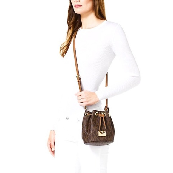 90% off Michael Kors Handbags - Michael Kors Jules Logo Drawstring ...