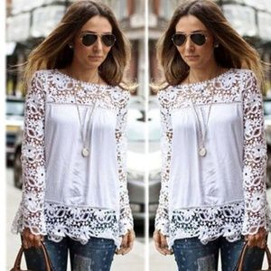 New Gorgeous Crochet Lace Blouse❤️