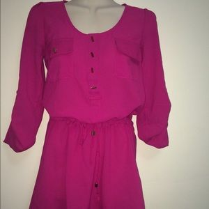 ALLOY Dresses & Skirts - Hot pink chiffon dress