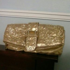 Clutches & Wallets - Gold Bling Clutch