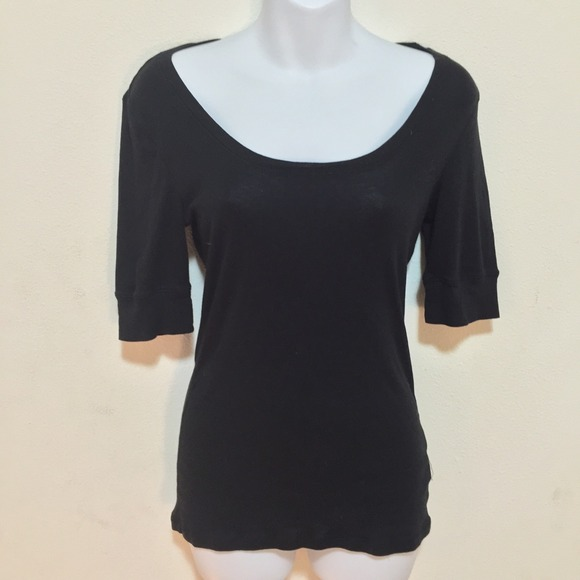 67 Off Old Navy Tops Black Vintage Boat Neck Super Soft