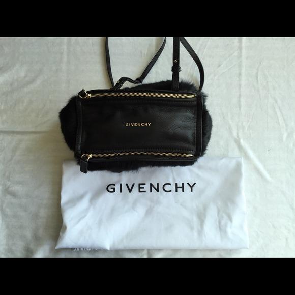 11e83545e5 Givenchy Handbags - Givenchy Pandora Mini (Fur/Calf) in Black
