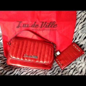 Lux de ville mini gambler bag and wallet
