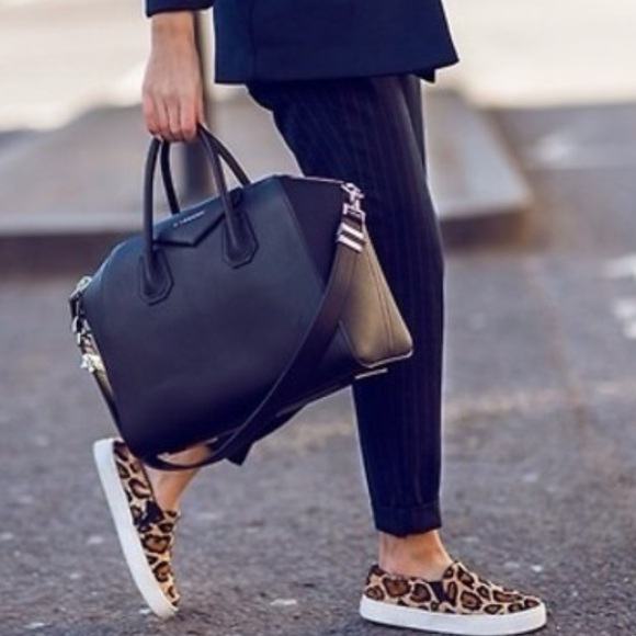 e6543416986 Steve Madden Ecentric Leopard Hair Sneakers Shoes