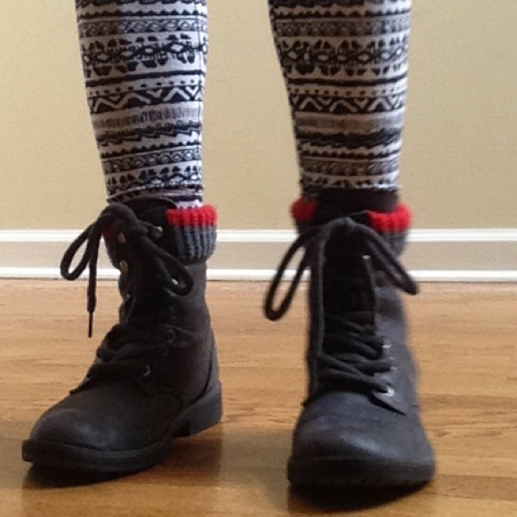 78% off Target Shoes - Dark Grey Combat Boots from Veronica's ...