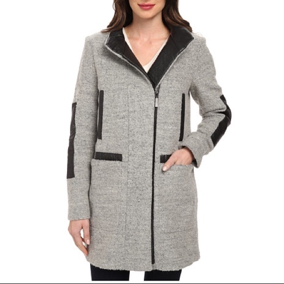 Vince Camuto Jackets & Coats - VINCE CAMUTO Leather Detail Coat