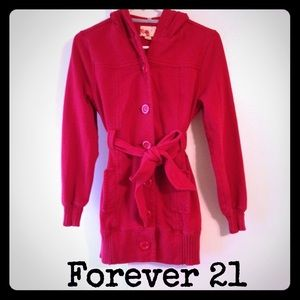 Forever 21 red hooded jacket