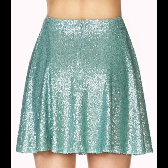 Sequin Skater Skirt - Skirts