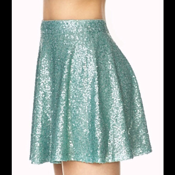 20% off Forever 21 Dresses & Skirts - Mint green seafoam sequin ...