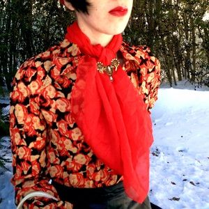 Accessories - Vintage red scarf