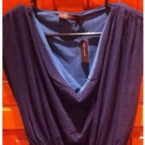 Limited blue layered tank (two tone)