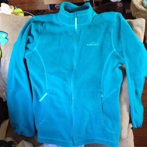 Polartec fleece jacket greenish blue
